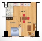 Ilustrata Residences 1-Bedroom Floor Plan