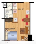 Ilustrata Residences Studio Floor Plan