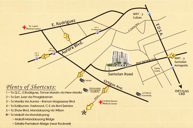 Ilustrata Residences Vicinity Map