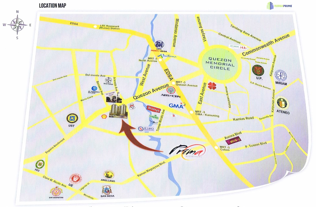 Prima Residences Vicinity Map