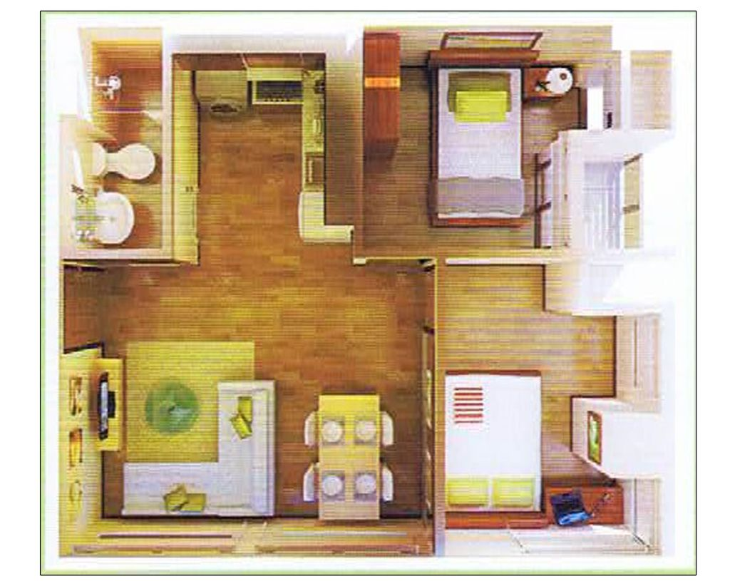Prima Residences 2-Bedroom Floor Plan