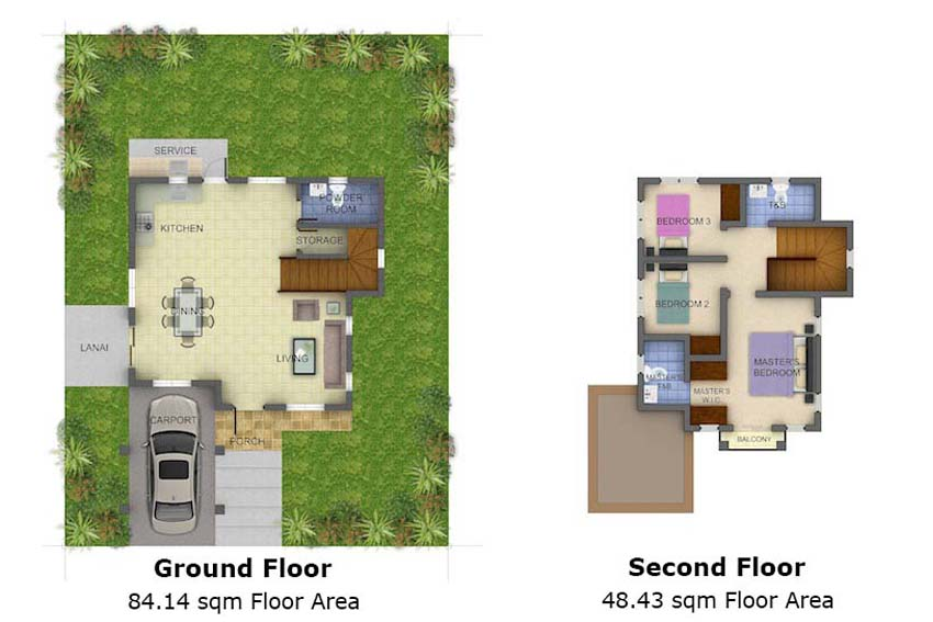 Single-detached Alessandra Floor Plan