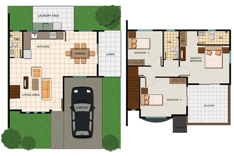Single-attached Anastacia Floor Plan