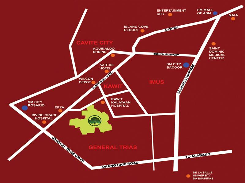 Antel Grand Village Vicinity Map
